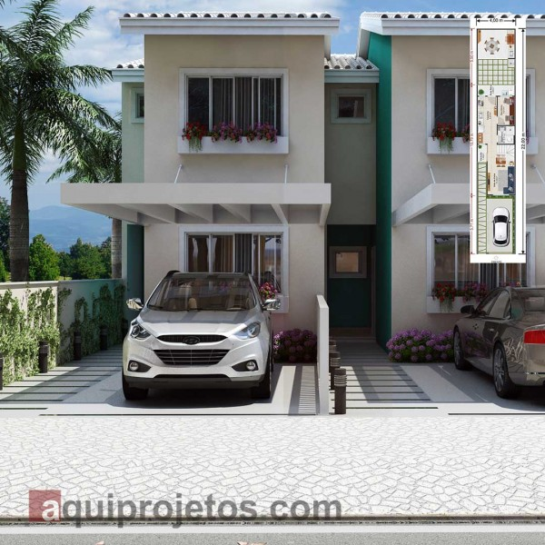 Plantas de casas com at 80m2 for Casa moderna 80m2