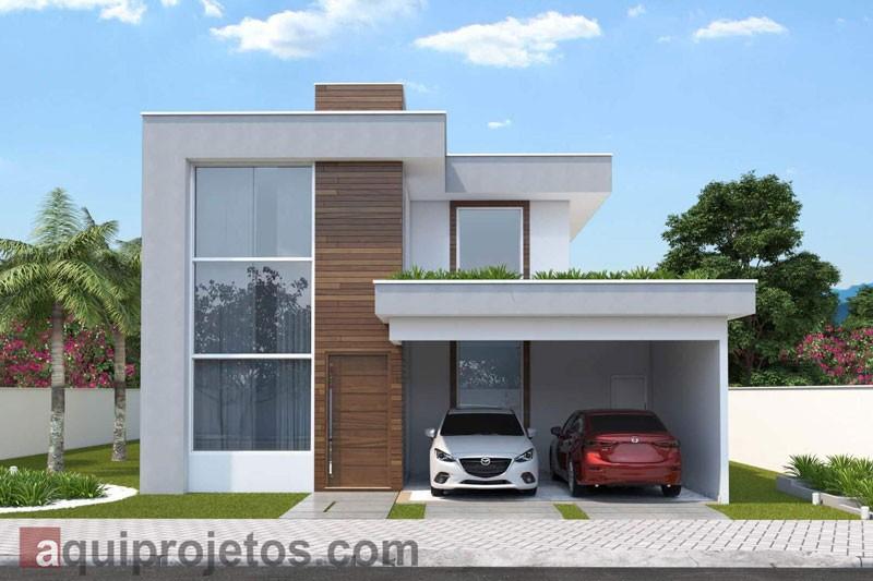 Fachada de casa - Projetos de casas