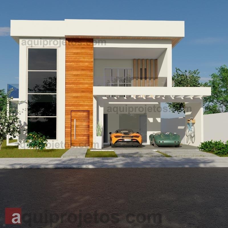 Fachada de casa - Sobrado Moderno