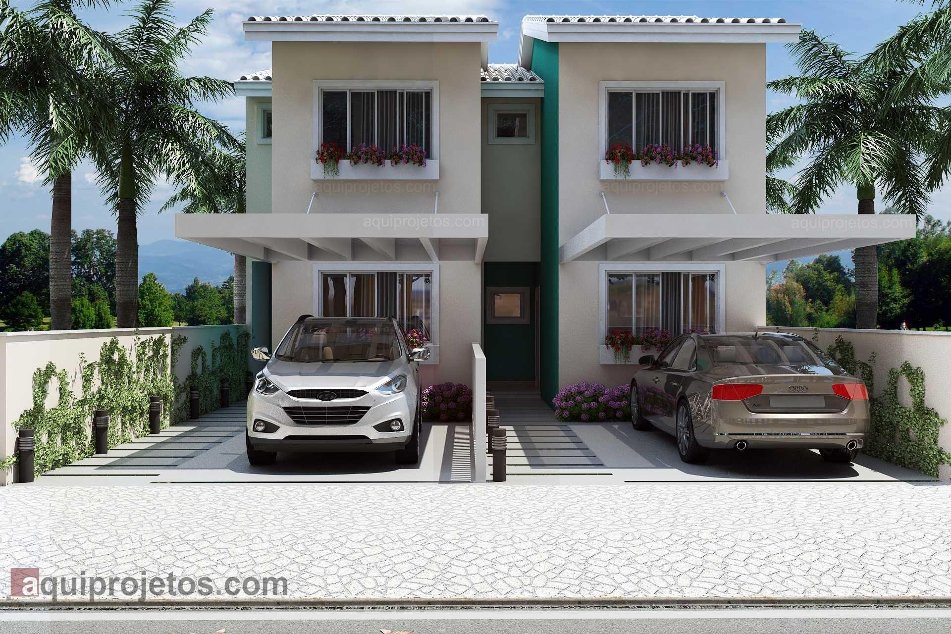 Fachada de casa - Plantas de casas