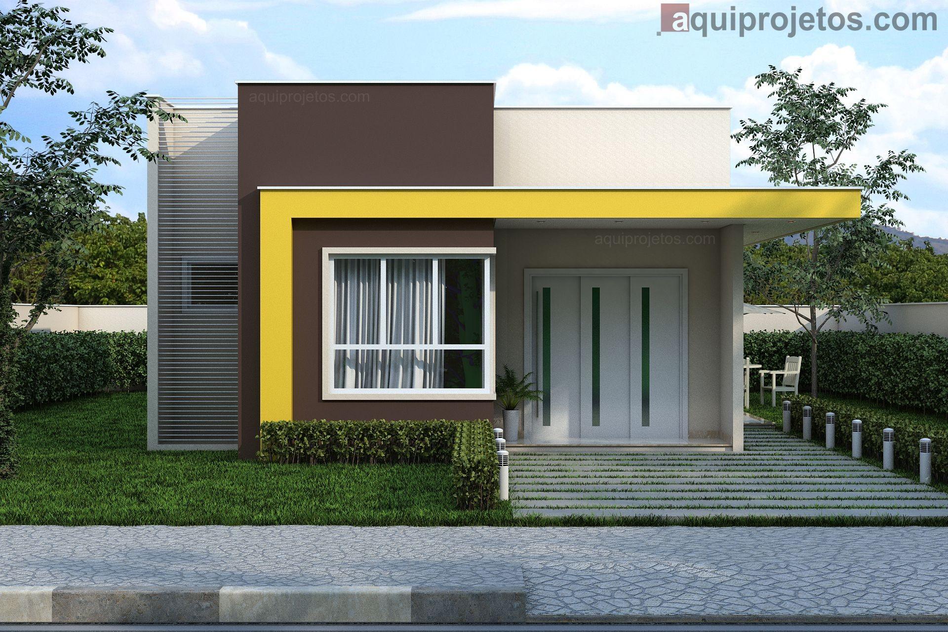 Projeto Pronto De Casa Térrea Moderna Aquiprojetos