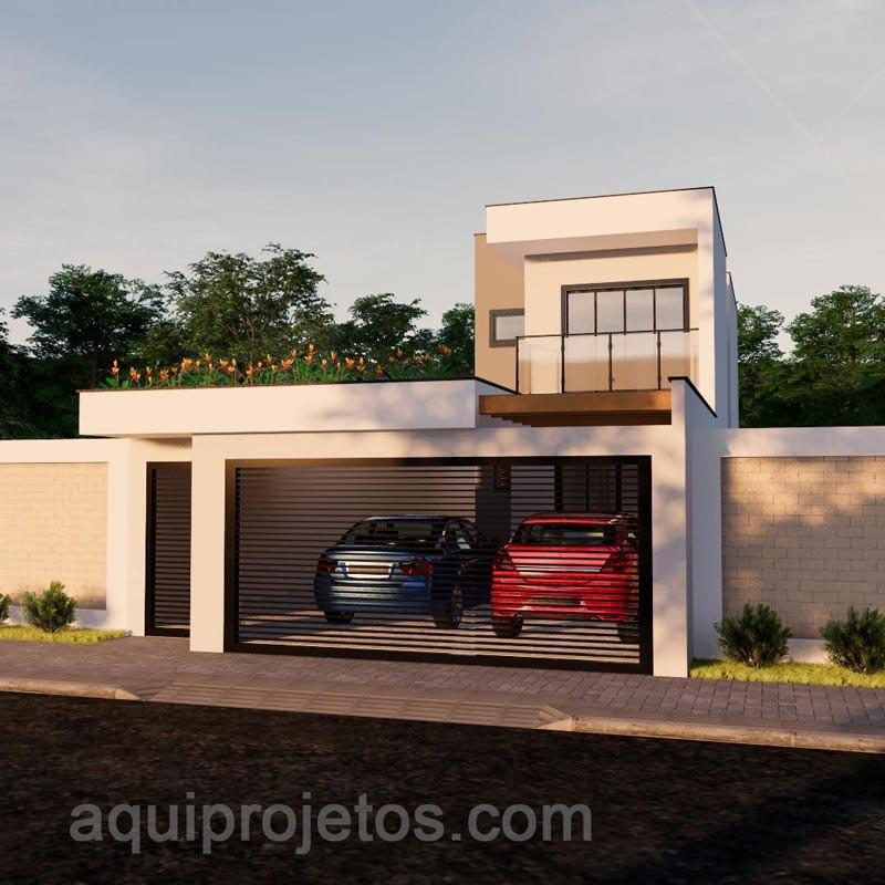 Fachada de casa - Planta de casa