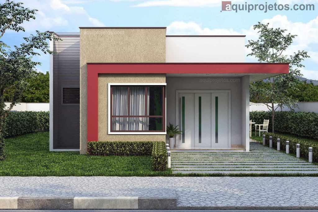 Fachadas de casas, plantas de casas - Aquiprojetos