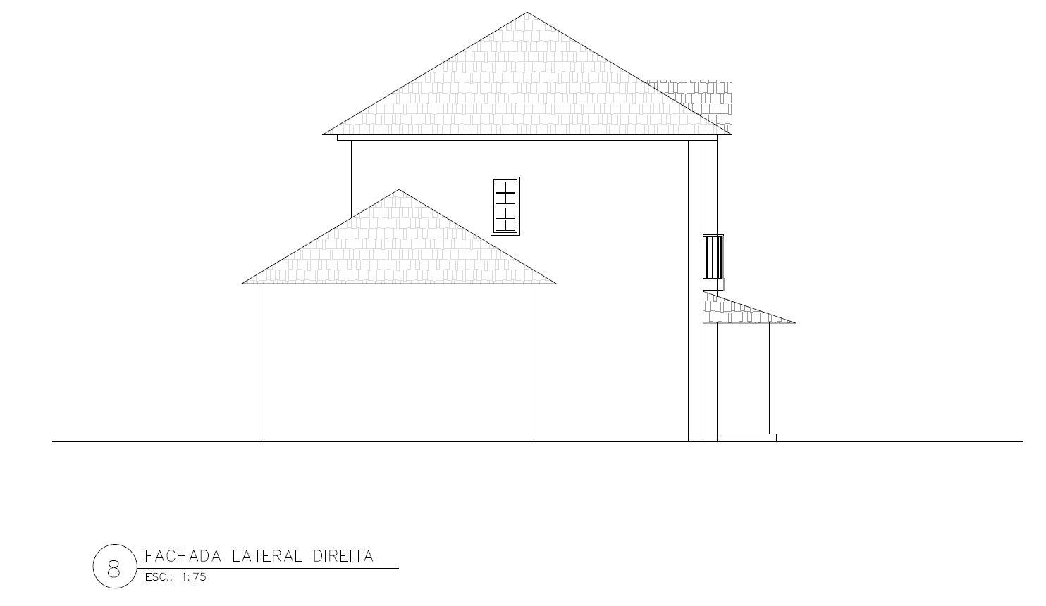 Fachada de casa lateral