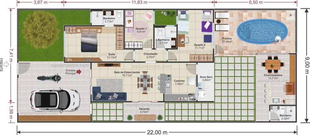 plantas de casas - Aquiprojetos