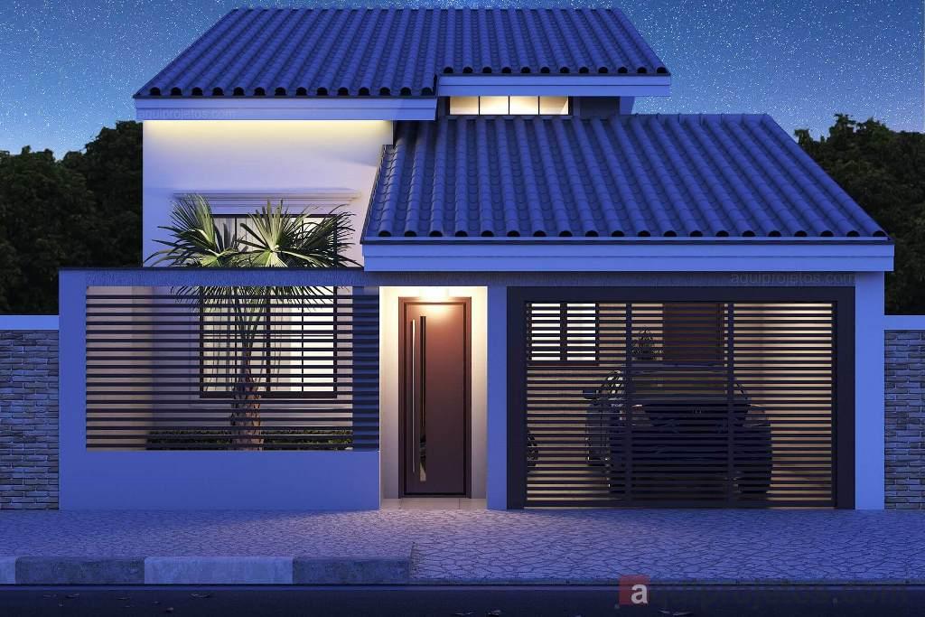 Plantas de casas, fachadas de casas - Aquiprojetos