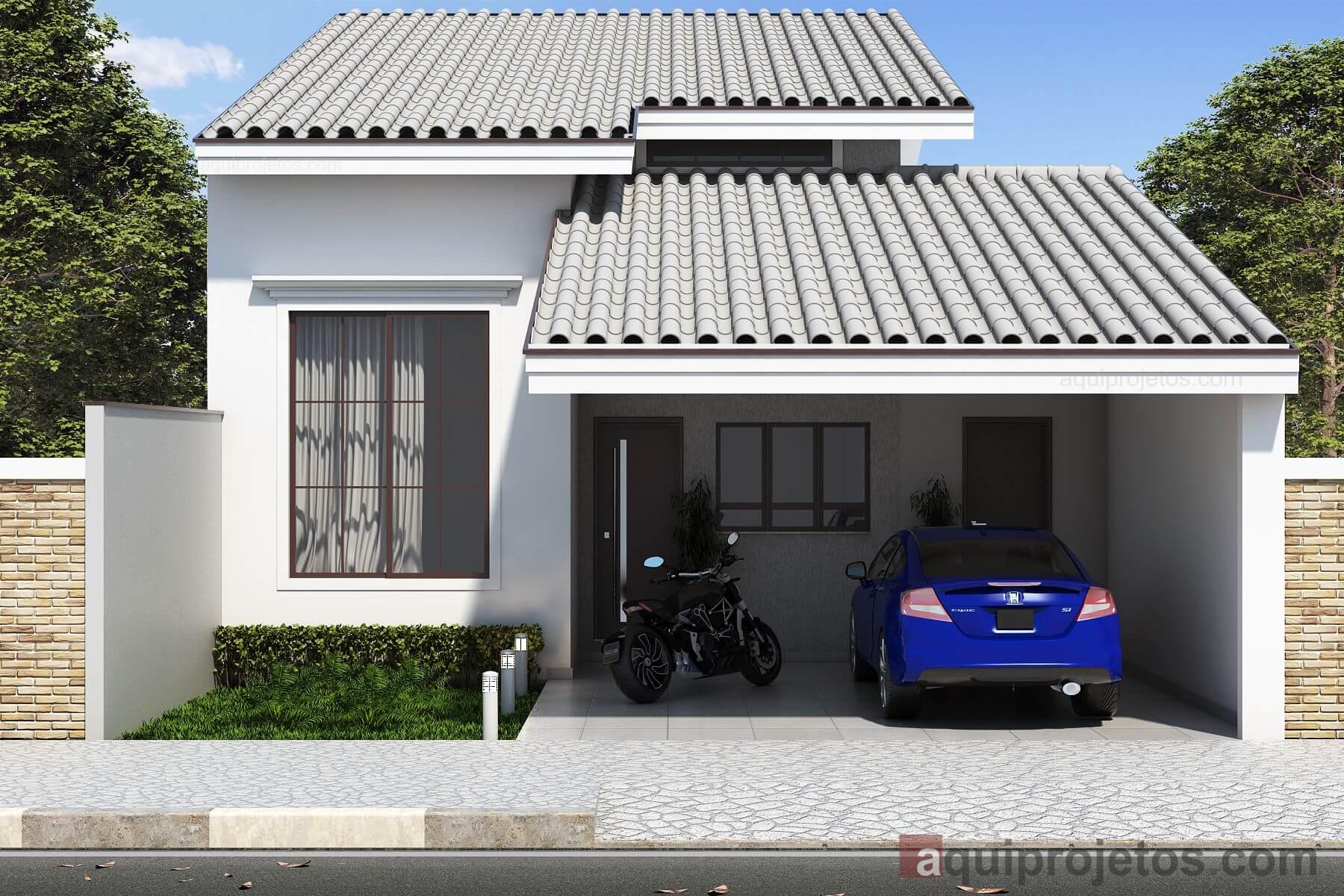 Fachadas de casas modernas - Aquiprojetos